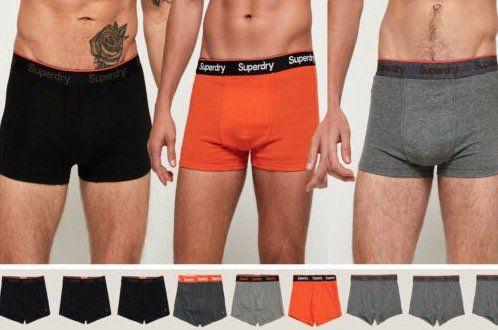 3er Pack Superdry Herren Orange Label Sport Boxershorts für 13,99€(statt 31€)