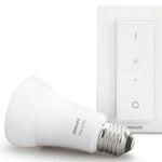 Ausverkauft! Philips Hue White E27 Bluetooth Warmweiß Leuchte + Dimmschalter für 17,59€ (statt 23€) – Media Markt Club