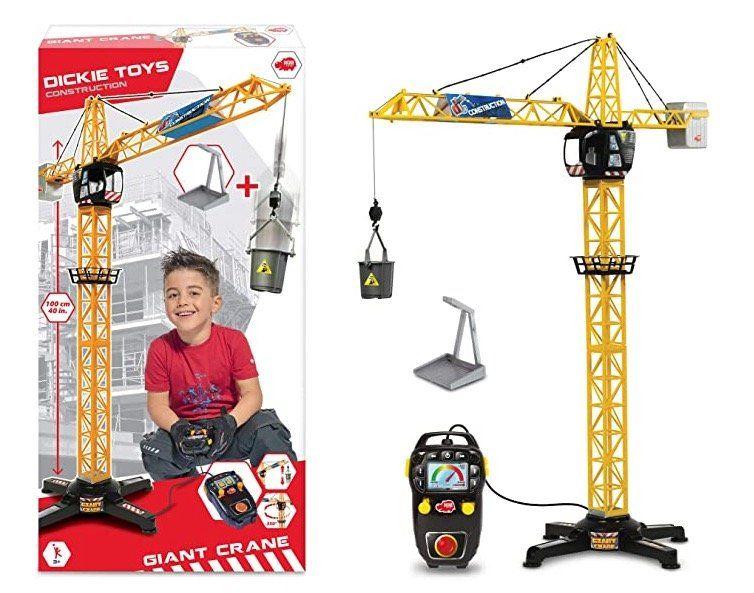 Abgelaufen! Dickie Toys elektrischer Spielzeug Kran (100cm, ferngesteuert) für 9,99€ (statt 18€)   Prime