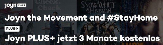 Nur bis Freitag 10 Uhr: 🔥 3 Monate Joyn PLUS+ Premium mit über 30.000 Filme & Serien GRATIS (statt 21€)