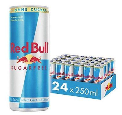 24er Pack Red Bull Energy Drink Sugarfree ab 20,91€ 6€ Pfand   nur 0,87€ pro Dose