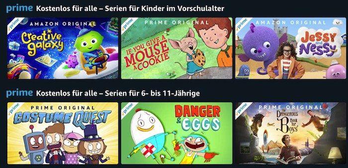 Amazon Prime Video: einige Kinderserien nun kostenlos verfügbar   gilt auch ohne Prime Abo!