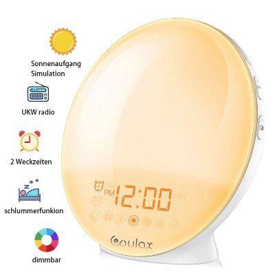 COULAX Lichtwecker mit 20 Helligkeitsstufen und sieben Naturtöne für 25,79€ (statt 43€)