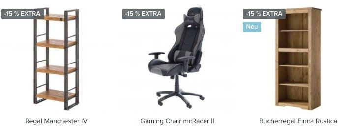 home24: 15% Rabatt auf Home Office und Garten Produkte   z.B. Gaming Stuhl DX Racer V2 für 237€ (statt 319€)