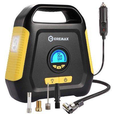 CREMAX Luftkompressor elektrisch mit LCD Bildschirm 12V DC 120PSI für 15,99€ (statt 32€)
