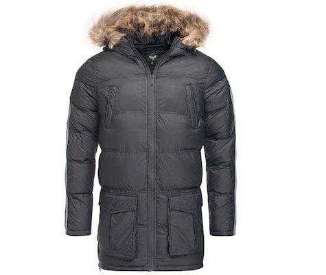 Brave Soul Chelmsford Side Stripe Detail Longline Winterjacke für 28,19€ (statt 46€)
