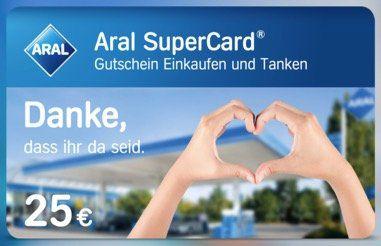 Vorbei! 25€ Aral SuperCard gratis für Pflegekräfte