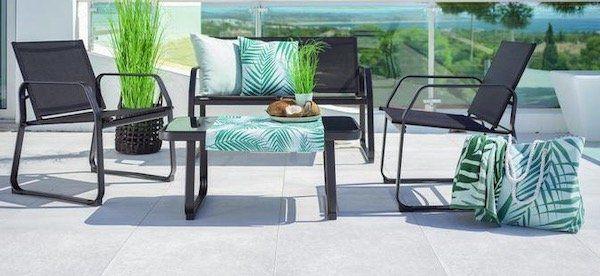 Vorbei! Mömax mit 25% Rabatt auf Gartenmöbel + kostenlose Speditionslieferung   z.B. Loungegarnitur für 111,75€ (statt 149€)