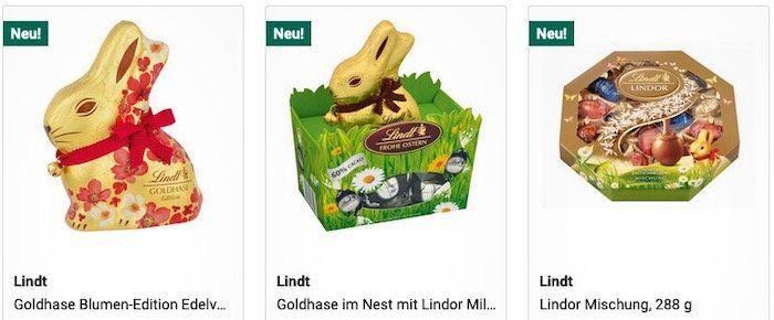 Jetzt 50% Rabatt auf viele Oster Süsswaren (MBW 20€)   z.B. Lindt Goldhase 100g für 1,49€