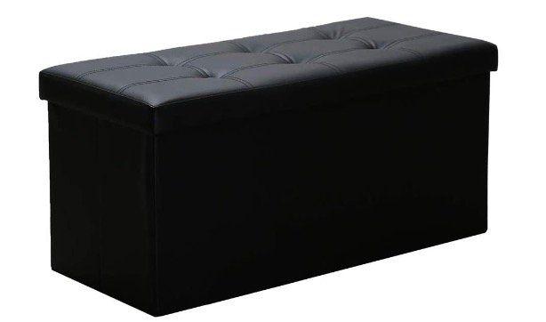 WIS Sitzhocker in Schwarz mit Aufbewahrungsmöglichkeit und Deckel für 16,79€ (statt 24€)