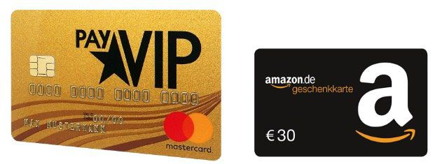 🔥 PayVIP Mastercard Gold (dauerhaft gebührenfrei) inkl. Reiseversicherung + 30€ Amazon Gutschein