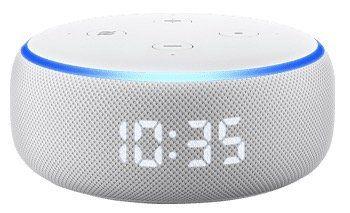 Amazon Echo Dot (3. Generation) mit Uhr für 24,99€ (statt 45€) + 3 Monate Deezer gratis   nur Neukunden