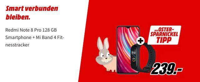 Xiaomi Redmi Note 8 Pro 128GB inkl. Mi Band 4 für 239€ (statt 269€)