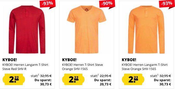 Kyboe Lang  und Kurzarm Shirts für je 2,22€ zzgl. VSK