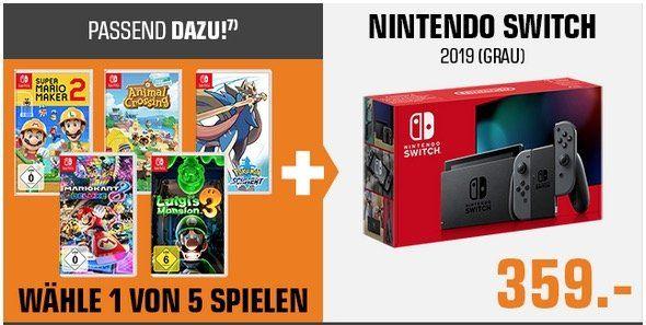 Nintendo Switch (neue Version) + 1 Spiel nach Wahl für 359€ (statt 383€)