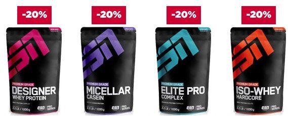 Fitmart: 20% Rabatt auf alle Proteine, Creatine und Booster + 360 Kapseln gratis ab 95€