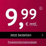 o2 Flat mit 8GB LTE für 9,99€mtl. + monatlich kündbar