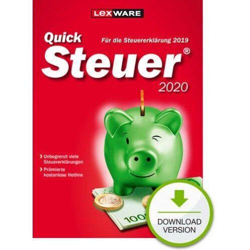 Lexware QuickSteuer 2020 für das Steuerjahr 2019 für 9,89€ (statt 12€)