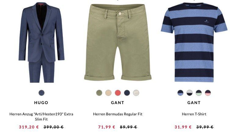 engelhorn Marken Sale  20% Rabatt auf Hilfiger, BOSS, GANT etc.