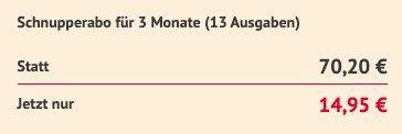 13 Ausgaben Die Zeit für direkt nur 14,95€ (statt 70€)