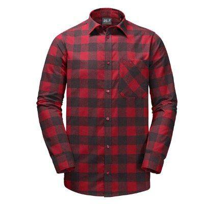 Jack Wolfskin Red River Shirt Flanellhemd für 30,44€ (statt 45€)