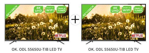 2x ODL 55650U TIB 55 Zoll UltraHD Fernseher für 583,90€ (statt 869€)   nur 291,95€ pro Stück!