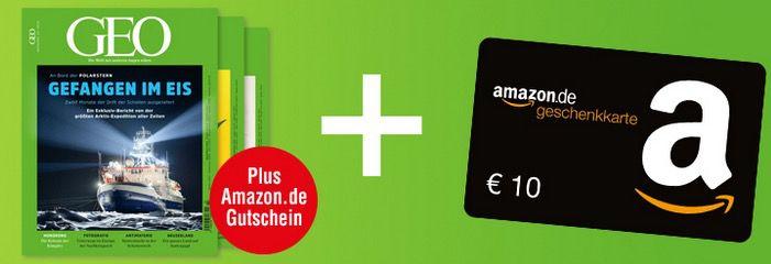 Mini Abo GEO mit 3 Ausgaben für 16,90€ + 10€ Amazon Gutschein