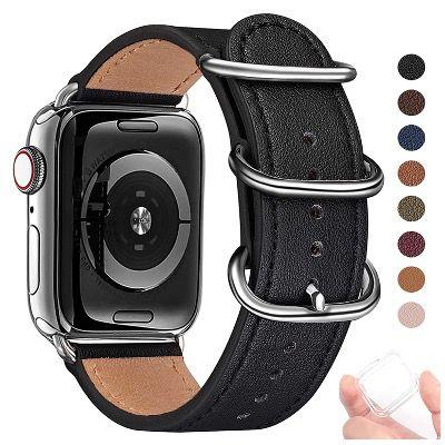 BesBand Retro Lederbänder für die Apple Watch 38mm bis 44mm ab 6,64€ (statt 19€)
