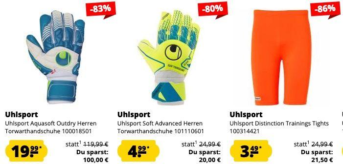 Uhlsport Sale bei SportSpar ohne VSK   z.B. Uhlsport Stream 3.0 Präsentationsjacke ab 9,94€