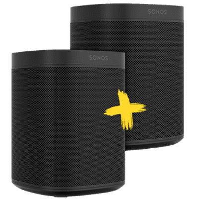 2x Sonos One Smart Speaker mit Sprachsteuerung für 349€ (statt 430€)