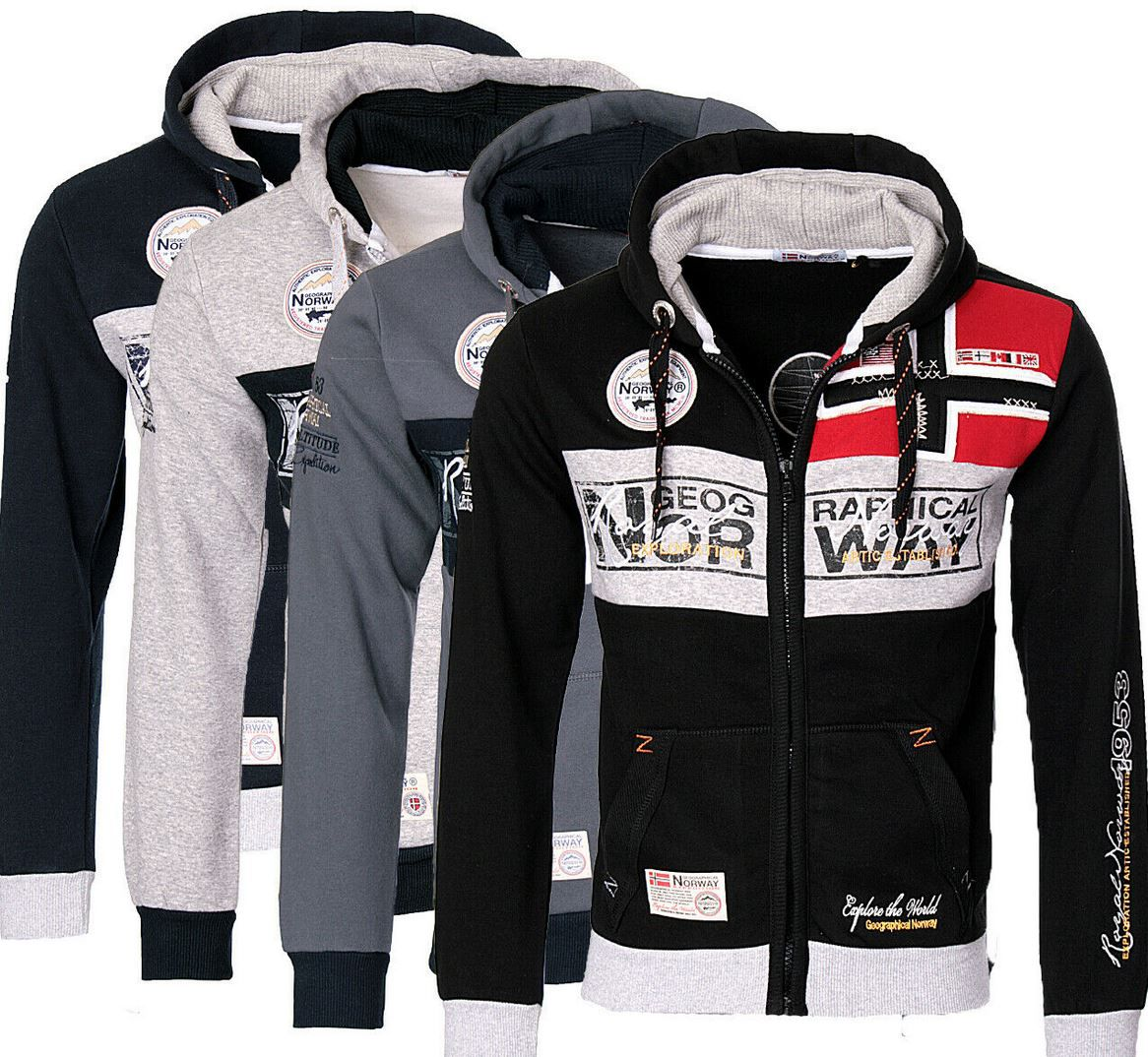 Geographical Norway Flyer Me Herren Sweat Jacke für 34,90€ (statt 49€)