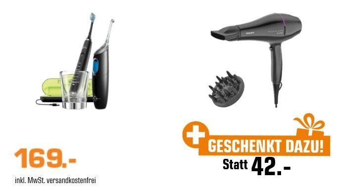🔥 Philips HX 8492/03 + Airfloss Zahnpflege Set + Philips Drycare Haartrockner für 169€ (statt 242€)