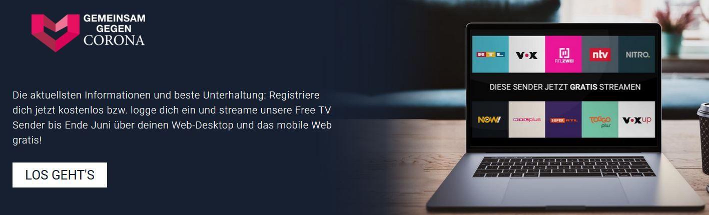 Tipp: TVnow Free TV Browser Streaming gratis bis Ende Juni
