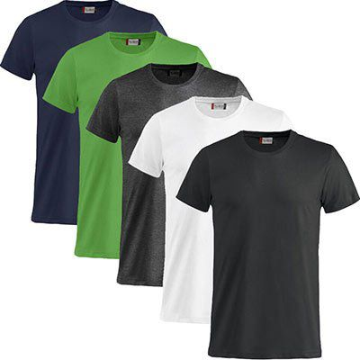 5er Pack Clique Basic T Shirts in 11 Farben für 22,50€ (statt 31€)