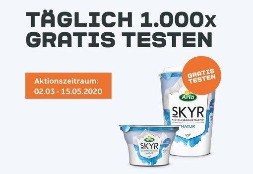 Kostenlos Arla® Skyr   Produkte ausprobieren