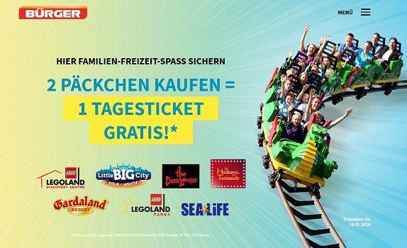 Beim Kauf von Bürger Maultaschen gratis Eintrittskarte für einen Freizeitpark