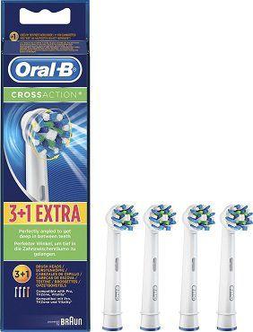 3x Pack ORAL B CrossAction 4er mit Bakterienschutz Aufsteckbürsten für 19,98€ (statt 36€)
