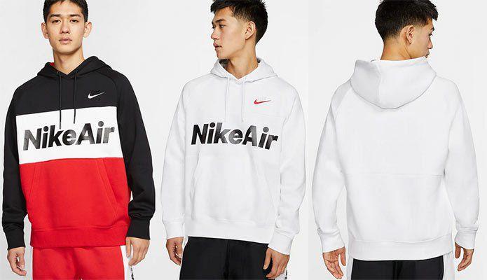 Nike Air Fleece Hoodie in Rot oder Weiß für je 31,48€ (statt 52€)