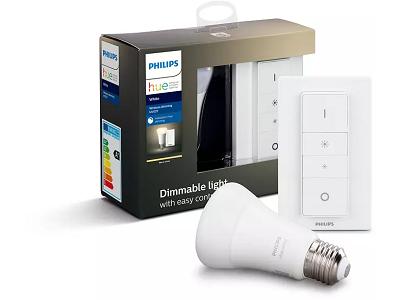 Philips Hue White E27 Bluetooth Warmweiß Leuchte + Dimmschalter ab 18,49€ (statt 25€)