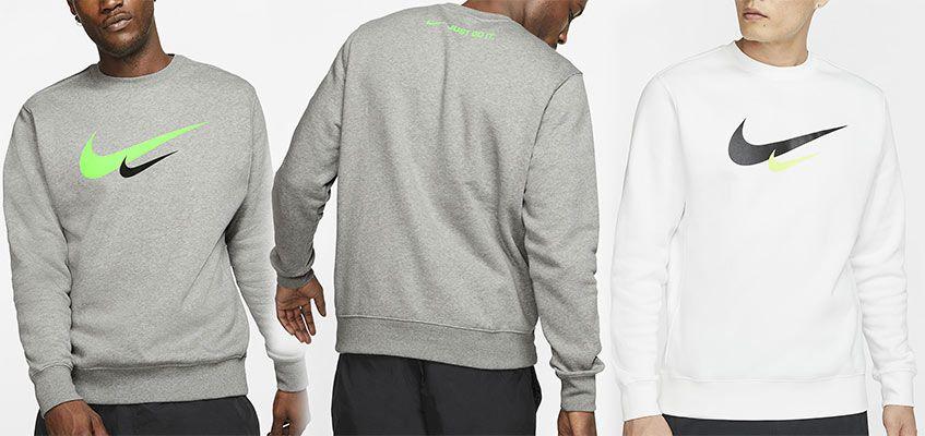 Nike Sweatshirt CW2185 in Grau oder Weiß für je 23,60€ (statt 43€)