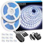 2x 5m LED-Streifen in kaltweiß mit 300 LEDs für 15,59€ – Prime