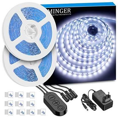 2x 5m LED Streifen in kaltweiß mit 300 LEDs für 12,99€   Prime