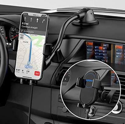 Mbpow 2in1 Kfz Handyhalterung inkl. 10 W Qi Ladestation für 22,99€ (statt 31€)