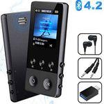 BT 4.2 MP4 Player mit 1,8 Zoll Display, Radio, Kopfhörer & OTG-Adapter für 19,79€