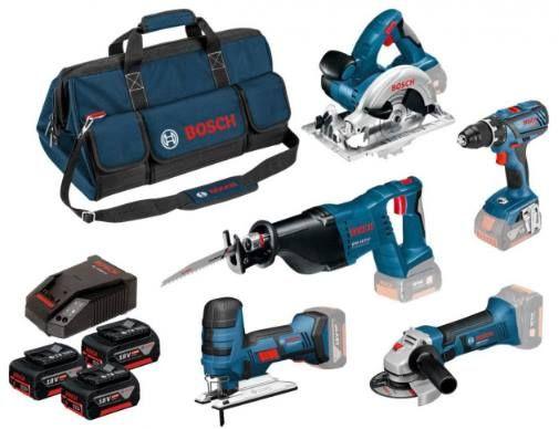 Bosch 0615990K6N Akku Spezialset mit 5 Maschinen & 3 Akkus für 755,50€ (statt 870€)