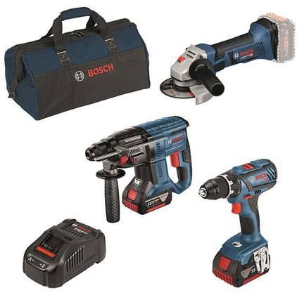 Bosch Professional 18V Akku Set (Schrauber, Bohrhammer, Flex) für 419€ (statt 461€)