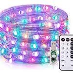 TaoTronics 10m RGB Lichterkette mit 100 LEDs & Fernbedienung für 6,50€ – Prime