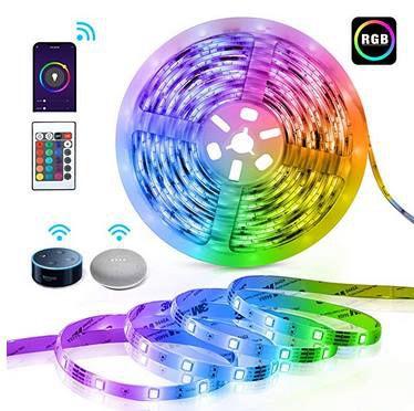 Teckin 5m RGB LED Streifen mit App Steuerung für 19,59€   Prime