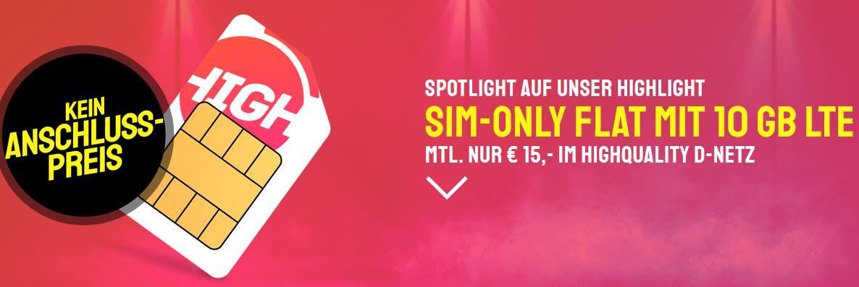 🔥 Telekom Flat mit 10GB LTE für nur 15€ mtl. + LTE50 möglich!