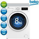 BEKO WYA81463S Waschmaschine mit Nachlegefunktion, 8kg & 1400 U/min für 333€ (statt 399€)